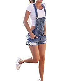 e3210dde8161 Mengyu Women Casual Denim Dungarees Jeans Shorts Jumpsuit