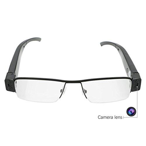 Xcellent Global Spionagebrille Versteckte Kamera HD 1080P Brille DVR DV Video Recorder mit 16GB TF Karte AV024 (Brille Video Recorder)