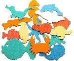 Badesticker Badespielzeug - Moosgummi Tiere Motiv Wasser Stärke 0