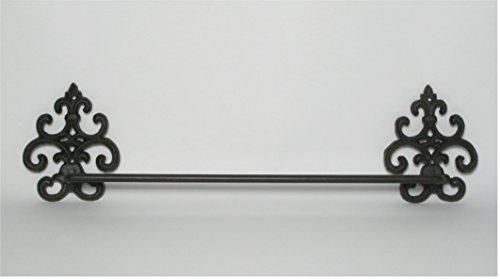 Wandhalter *Handtuchhalter* Handtuchstange Badetuchstange Gusseisen antik braun, B. ca. 57 cm (Handtuchhalter Gusseisen)