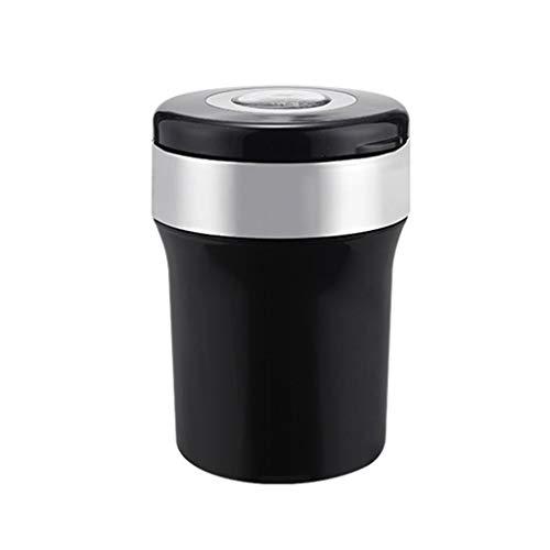 Cendrier de voiture avec boussole détachable cigarette sans fumée cendrier avec lumière LED facile à nettoyer Portable cendrier de voiture avec couvercle pour la plupart des porte-gobelets de voiture