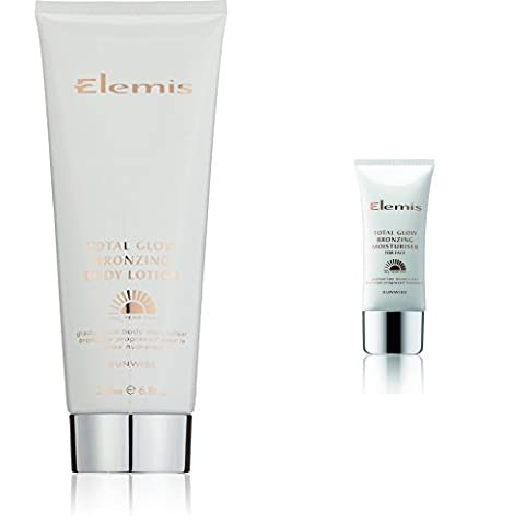 ELEMIS Total Glow Bronzing Body Lotion with Moisturiser for Face (200 ml and 50 ml)