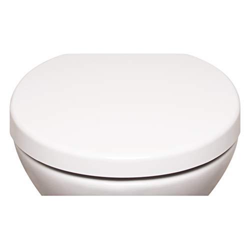 Bullseat 2.1 WC Sitz weiß O-Form • Absenkautomatik/Softclose • abnehmbar • easyclean • Toilettendeckel • Klobrille • hochwertiges Duroplast