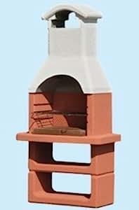 BARBECUE GRIGLIA BBQ IN MURATURA CON CAPPA FORNO A CARBONE GRILL 90X56,5XH190 CM