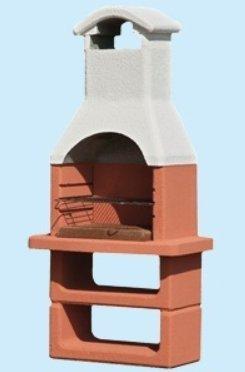 Barbecue beton carbone prefabbricato in cemento cm.l90xp59xh184