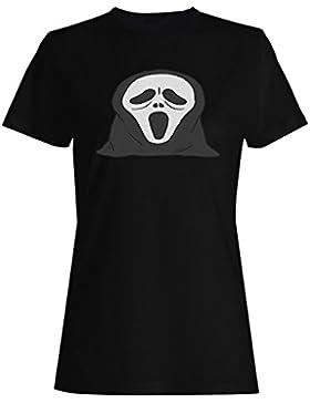 FELIZ HALLOWEEN SKELETON HEAD GHOST FUNNY NOVELTY NUEVO camiseta de las mujeres -k25f