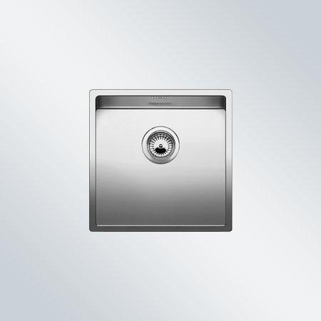Preisvergleich Produktbild Blanco Claron 400-U Edelstahl Seidenglanz Spülbecken Küchenspüle Unterbau