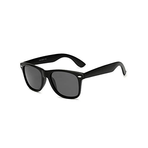 Vikimen Sportbrillen, Angeln Golfbrille,Brand Mens Polarisiert Sunglasses Women Square Mirror Sun Glasses Male Driving Classic Unisex Gafas Gafas UV400 Sandblack Grey