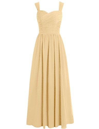 HUINI Damen Modern Kleid Gold