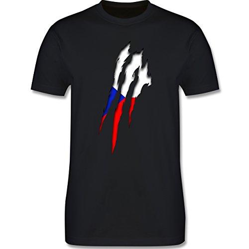 EM 2016 - Frankreich - Tschechien Krallenspuren - Herren Premium T-Shirt Schwarz