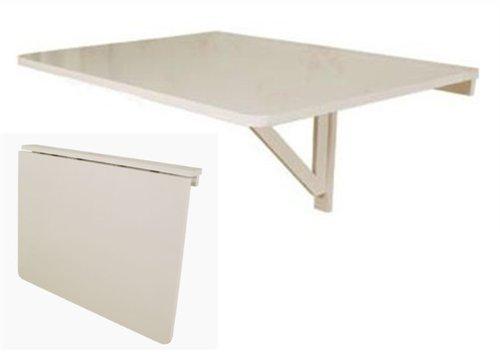 SoBuy® Wandklapptisch, Küchentisch, Klapptisch, Esstisch aus Holz, 75x60cm, FWT01-W (Weiß)