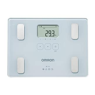 31IQfIZBReL. SS324  - OMRON BF212 - Báscula de baño digital con análisis de composición corporal, porcentaje de grasa corporal, IMC, memoria para 4 personas