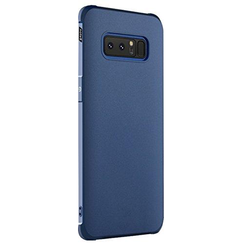 Samsung Note 8 Funda -Tianqin Ultra-Delgado Ligero Duradero Caso Protección TPU Parachoques Prueba Choque Para Samsung Note 8 Cubierta - Azul