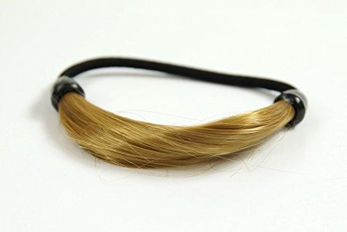 WIG ME UP - Unsichtbarer Haarbinder, Kunsthaar Haargummi in Haaroptik, Zopfgummi, Zopfband mit elastischem Zug, Blond Hellblond NHA-003B-25