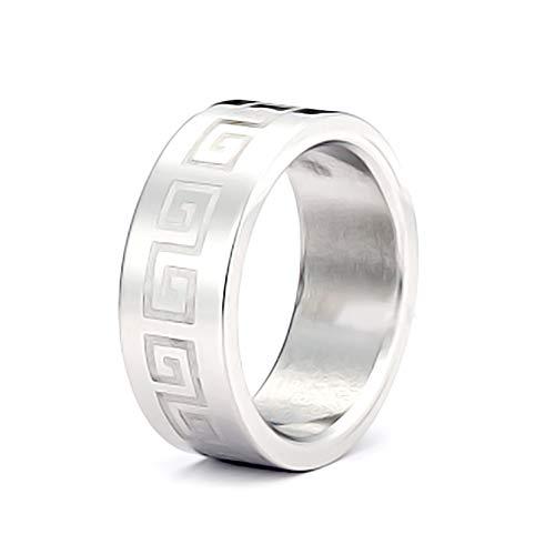 AKKi jewelry Eleganter Edelstahl Ring Bequem Silber,für Partner- verlobungs- Freundschaft- Ringe schmuck zirkonia mit Swarovski Kristalle alle größen 18/58