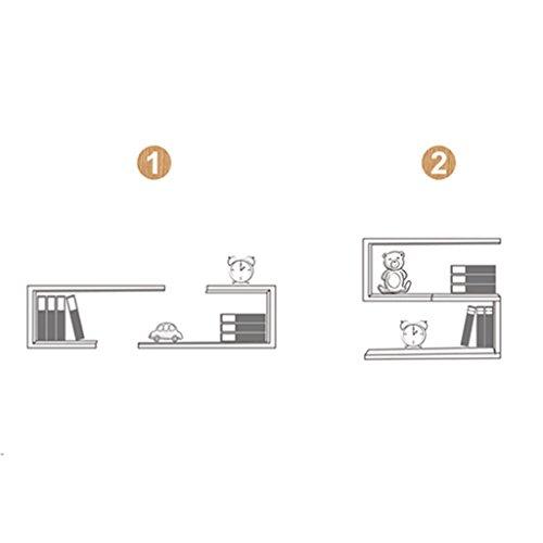 Preisvergleich Produktbild Shelf Modernes Regal aus massivem Holz, Regal mit Trennwänden Nummer 7, quadratische Wandfläche Dekorationen (Farbe : Schwarze Walnussfarbe, größe : Zwei)