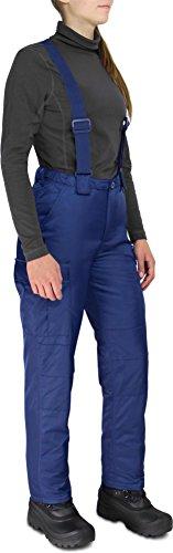 Damen Skihose Snowboard Hose mit abnehmbaren Hosenträgern Schneefest Winddicht Wasserdicht und Atmungsaktiv 2 in 1 Winterhose Farbe Navy Größe S