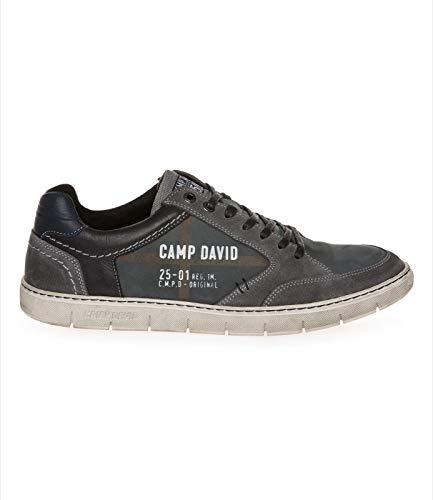 Camp David Herren Leder-Sneaker mit Logo