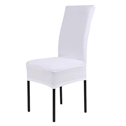 OULII Stuhlhussen Stuhl Cover Universal Stretch elastischen Esszimmerstuhl Slipcovers Esszimmer Stuhl Cover Protector Sitz Slipcover (weiß)
