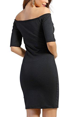 INFINIE PASSION - Col bateau - Robe sexy noire Noir