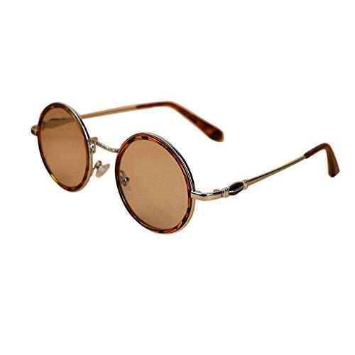 WULE-RYP Polarisierte Sonnenbrille mit UV-Schutz Womens Retro Round Eyewear, Schutz Anti-Ermüdung Optiacl Gläser. Superleichtes Rahmen-Fischen, das Golf fährt (Farbe : Silver)