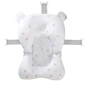 FOONEE Foldable Infant Bath Pad,Baby Bath Tub Pillow Cushion Skid Proof Newborn Safety Floating Lounger Mat for 0-12 Months Baby