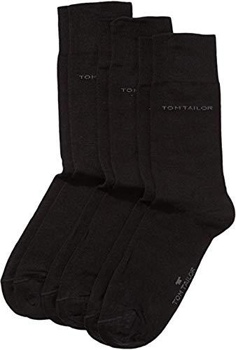 TOM TAILOR Herren Socken 3 Paar, 9003 (Schwarz (Black - 610), 1x 6 Paar Sparpack 39-42)