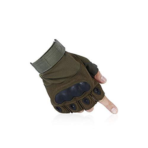 Gsaydnee guanti da ciclismo outdoor da uomo guanti da semifinger da combattimento antiscivolo (color : green, size : m)