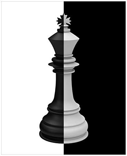 Wallario Magnet für Kühlschrank/Geschirrspüler, magnetisch haftende Folie - 65 x 80 cm, Motiv: Schachfigur schwarz-weiß (Schach-kühlschrank-magnete)