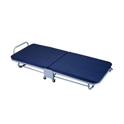 Cama Plegable portátil Azul Simple de la Hora de la Almuerzo Cama de Descanso portátil Sola Interior y al Aire Libre Rollsnownow (Tamaño : 65cm)