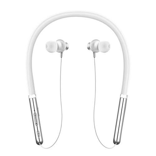 SODIAL Q30 Auriculares Inalambricos Bluetooth 5.0 Auriculares De Cancelacion De Ruido Auriculares Estereo Microfono para iPhone Xiaomi Todos Los Telefonos Inteligentes Air Pods (Blanco)