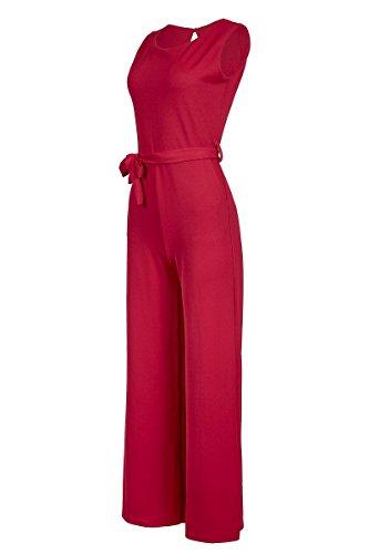 Eleganter Laeticia Dreams Damen Overall Jumpsuit Einteiler S M L XL XXL, Farbe:Rot;Größe:38