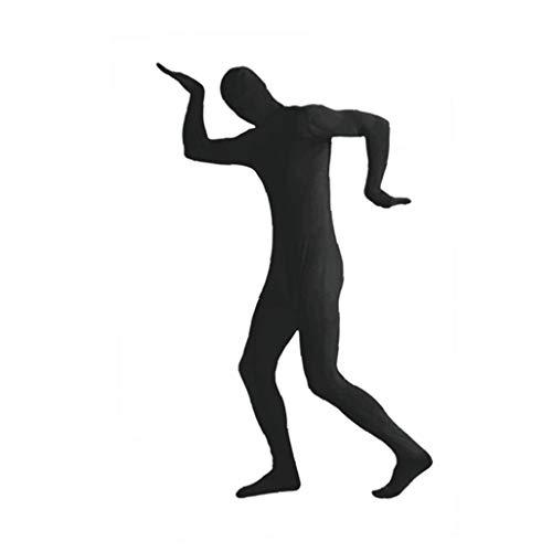 MICHAELA BLAKE Halloween Kostüme anzeigen Spandex Body Full Body Zentai hauteng Spandex-Anzug Ganzkörper-Anzüge Lycra-Kostüm-Abendkleid schwarz M (Ganzkörper Spandex Anzug Kostüm Schwarz)