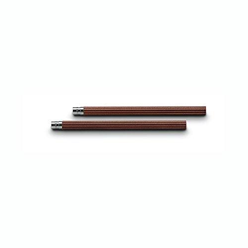 Graf von Faber-Castell 5 Ersatz-Taschenbleistifte Nr.V, braun für den Perfekten Bleistift (Faber Castell Perfekter Bleistift)