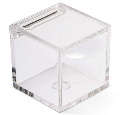 Scatoline portaconfetti plexiglass trasparente 5x5x5,box 50 pezzi per matrimonio,battesimi,comunioni,feste,ecc.