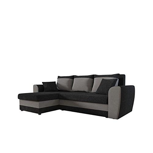 Mirjan24  Ecksofa Domo, Eckcouch Couch mit Schlaffunktion, Bettkasten, L-Form Sofa! Farbauswahl, Bettfunktion! Wohnlandschaft! Seite Universal!
