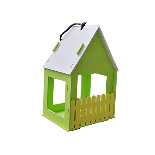 NR Centraliain Holzvogelhaus, Hängende Vogelnester Papagei Spatz Sittich Kolibri Holzvogelhaus, Hausgarten Hof Balkonkäfig Hängende Anhänger Grün -