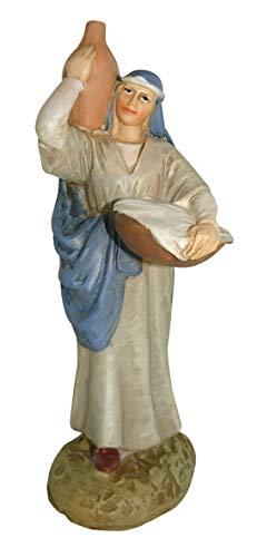 Statuine presepe: Pastorella con brocca linea Martino Landi per presepe da cm 10