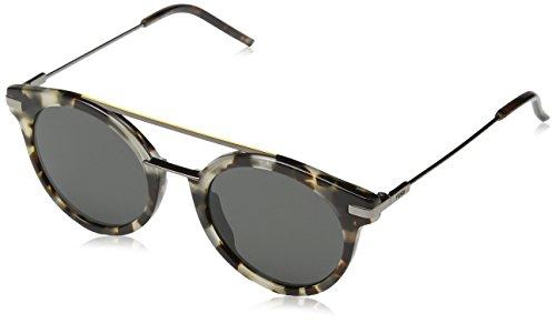 Fendi ff 0225/s ir 3ma, occhiali da sole uomo, marrone (havana ruthen/grey blue), 49