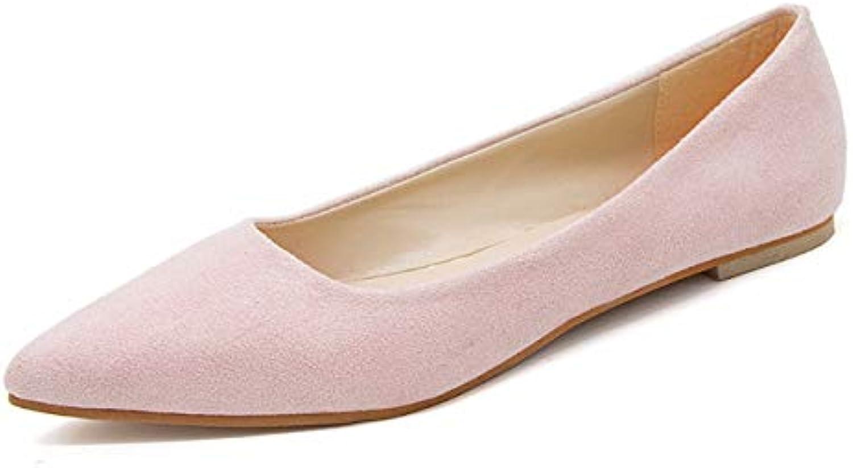 QPGGP-scarpe Sola Scarpa puntata Superficiale Superficiale Superficiale Come Sola Scarpa Femminile Piatto Unico Scarpe di camoscio Semplice... | Vinci l'elogio dei clienti  010fa2