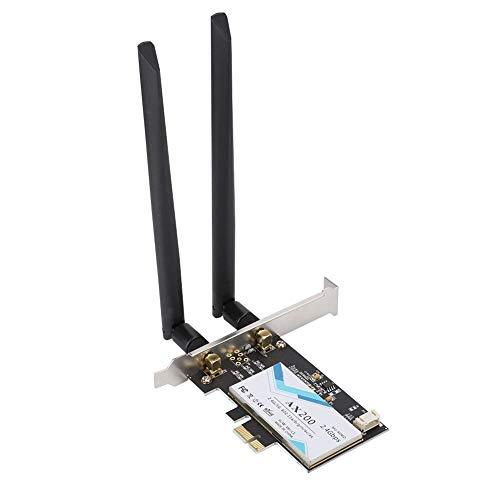 AX200NGW Dualband Wireless PCI Express-Adapter mit 2 Antennen, PCIe-Netzwerkschnittstellenkarte für den Desktop, Bluetooth 5.0-Unterstützung Unterstützt Windows 10 64-Bit für Google für Chrome OS