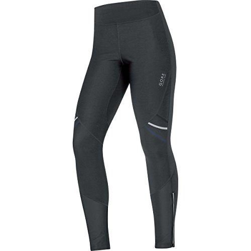 GORE RUNNING WEAR, Tights Corsa Donna, Caldi e Stretch, GORE WINDSTOPPER Soft Shell, MYHTOS LADY 2.0 WS SO, Taglia 38, Nero, TWSMYL990004