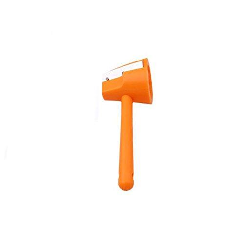 OUNONA Gemüse Hobel Obst Spirale Shred Slicer Cutter gemüse rolle blume werkzeuge / gemüse schäler Kreative Haushaltshilfe Gadgets Werkzeug (Orange)