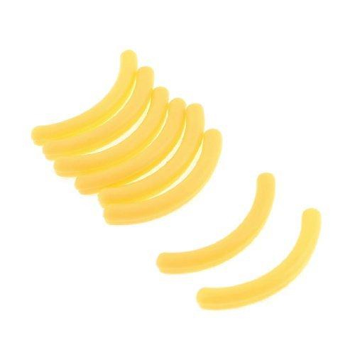 Sourcingmap Coussinets en caoutchouc tapis recourbe-cils remplacement des composants, jaune – Lot de 8