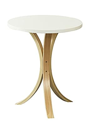 Orolay Wooden Round Side Sofa Table Coffee Tea Table - low-cost UK light shop.