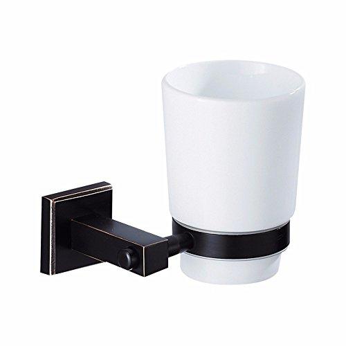 Salle de bains salle de bains noir accessoires de salle de bain noir bronze matériel carré, unique tasse en céramique porte-gobelet porte-gobelet