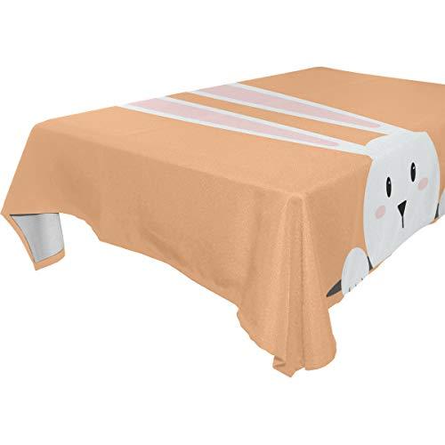erhase 137,2 x 137,2 cm Polyester Tischdecke für Küche Esstisch Dekoration, Polyester, Mehrfarbig, 60 x 90 (in) ()