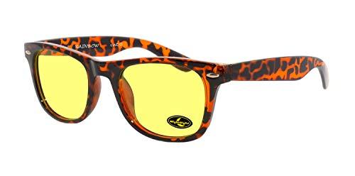 rainbow safety Auto Brille Nachtsichtbrille Nachtfahrbrille Kontrastbrille Polarisierte Gläser (Turtle Cat.0)
