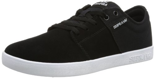 Supra - Stacks II, Senakers a collo basso, unisex, Nero (BLACK - WHITE BKW), 44