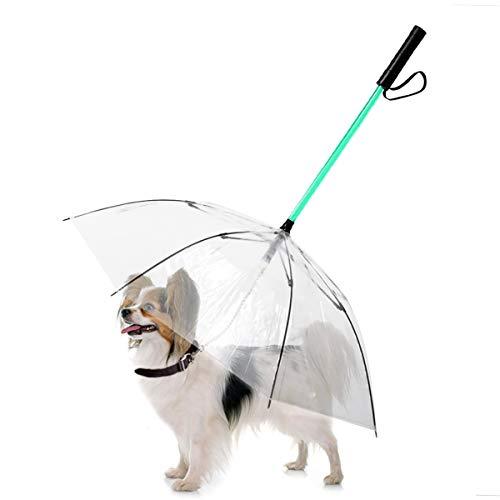NamsanLEDHaustier-Regenschirm7FarbendesLED-LichtsHundeschirmmitLeine -